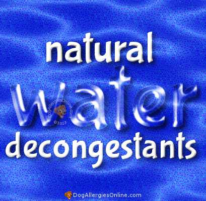 Natural Moisture and Water Decongestants
